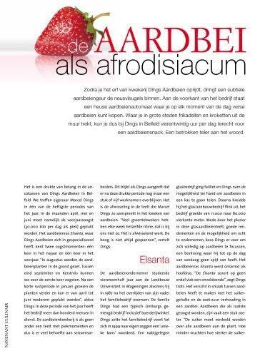 Aardbeien als afrodisiacum - Marcel Dings