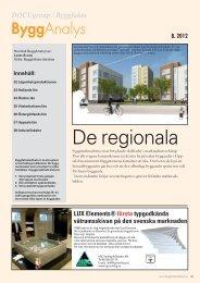 De regionala - Byggfakta Projektnytt