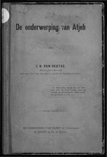 De onderwerping van Atjeh - Acehbooks.org