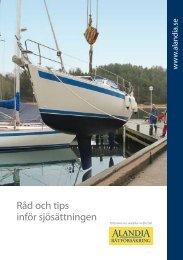 Råd och tips inför sjösättningen - Alandia Försäkring