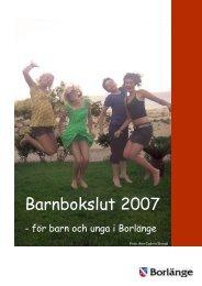 Barnbokslut 2007.pdf - Borlänge kommun