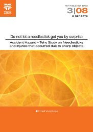 Do not let a needlestick get you by surprise - Tehy