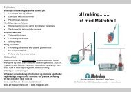 pH måling……. let med Metrohm !