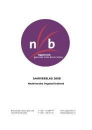 JAARVERSLAG 2008 - De Nederlandse Vegetariërs Bond