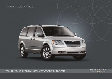 Chrysler GrAND VOyAGer 2008 fAktA OG priser