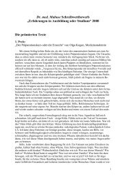 """Dr. med. Mabuse Schreibwettbewerb """"Erfahrungen ... - Mabuse Verlag"""