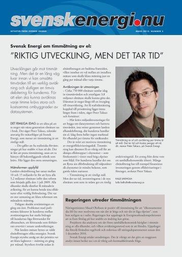 Läs nya numret av svenskenergi.nu (pdf)