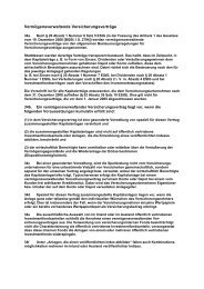 Vermögensverwaltende Versicherungsverträge - Gowin