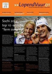 """Sochi 2014: top 10 -ambitie """"ferm overeind"""" - NOC*NSF"""