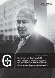 De kansen van duurzaamheid DSM behoort al meer dan 15 jaar tot ...