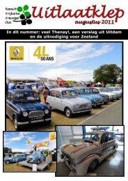 Uitlaatklep augustus 2011 - Renault Vrijbuiter Vrienden Club