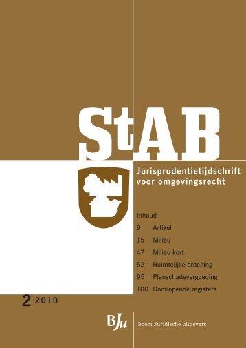 StAB Jurisprudentietijdschrift 2010, 2