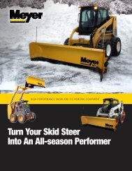 Turn Your Skid Steer Into An All-season Performer - Meyer Products