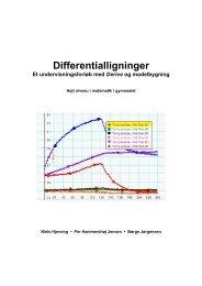 Differentialligninger - Matematik og naturfag i verdensklasse