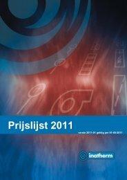 Prijslijst 2011 - Inatherm
