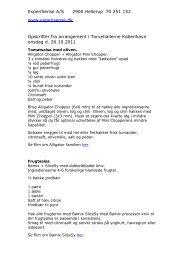 PDF fil div. Bamix opskrifter - ExperiSense