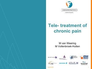 Tele- treatment of chronic pain