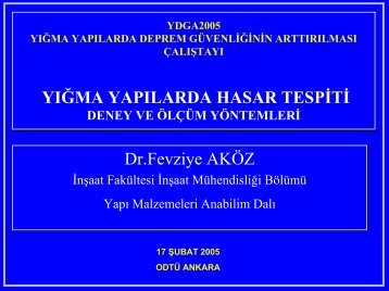 Yığma Yapılarda Hasar Tespiti - Armanyapi.com.tr
