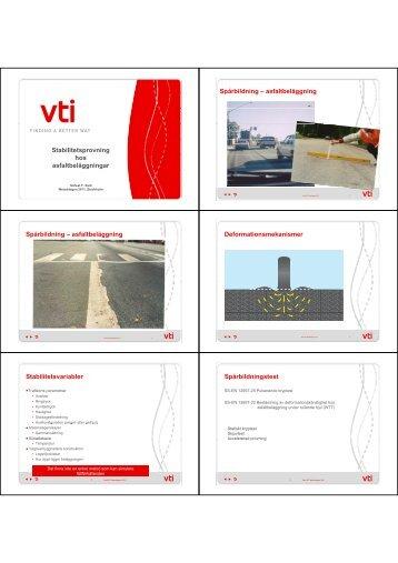 Stabilitetsprovning hos asfaltbeläggningar ... - Asfaltskolan