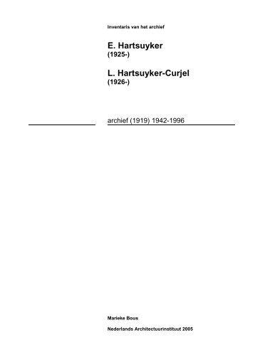 de inventaris van het archief Hartsuyker (pdf) - Nederlands ...