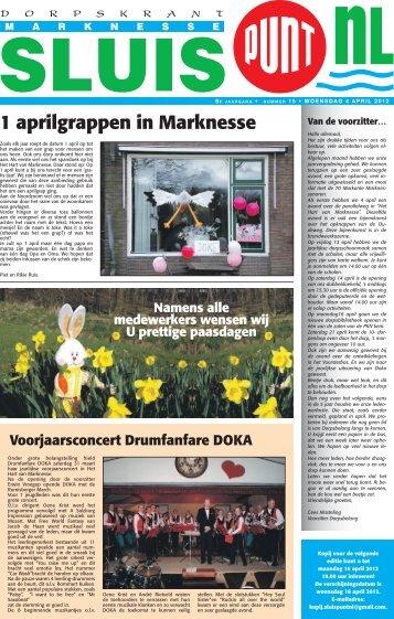 1 aprilgrappen in Marknesse Voorjaarsconcert Drumfanfare DOKA ...