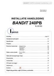 Toestel BANDIT 240 PB v408 installatie handleiding
