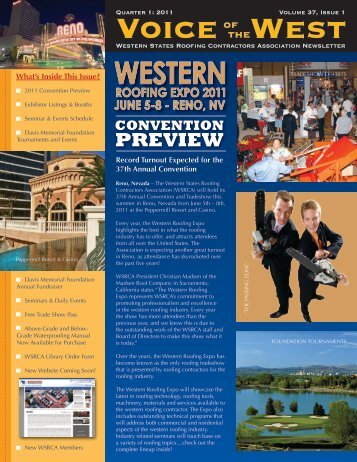 Western Roofing Expo 2011 - Need-a-Roofer.com