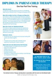diploma in parent-child therapy - British Association of Art Therapists