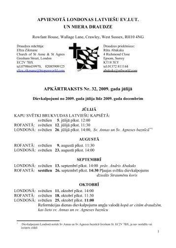 2009. g. jūnijs - Latvijas Evaņģēliski Luteriskā Baznīca Lielbritānijā