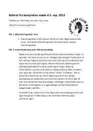Referat fra bestyrelses møde d.5. sep. 2012 - Samsø Dart Club