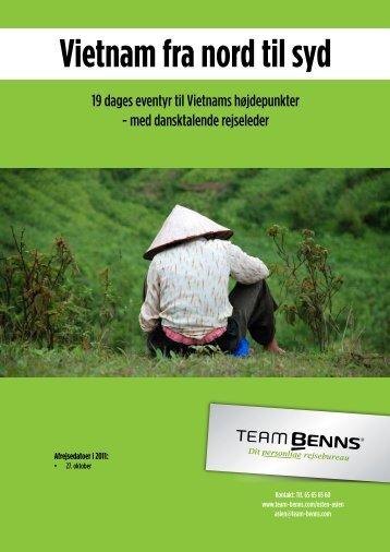 Vietnam fra nord til syd - Team Benns