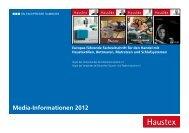 Media-Informationen 2012 - beim SN-Fachpresse Verlag