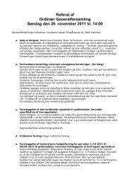 Referat af Ordinær Generalforsamling Søndag den 20. november ...