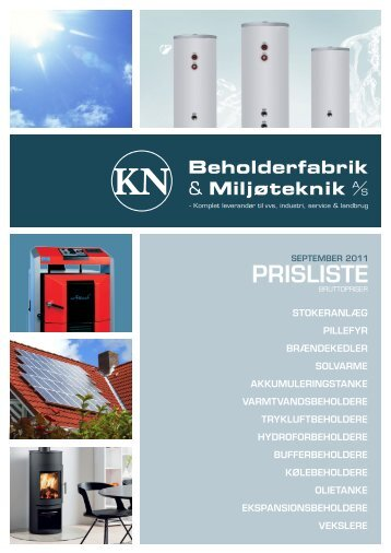 PRISLISTE - KN Beholderfabrik A/S