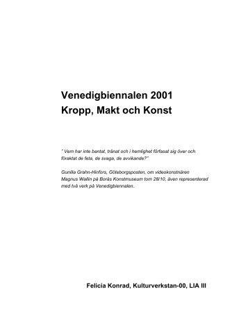 Venedigbiennalen 2001 Kropp, Makt och Konst - Kulturverkstan