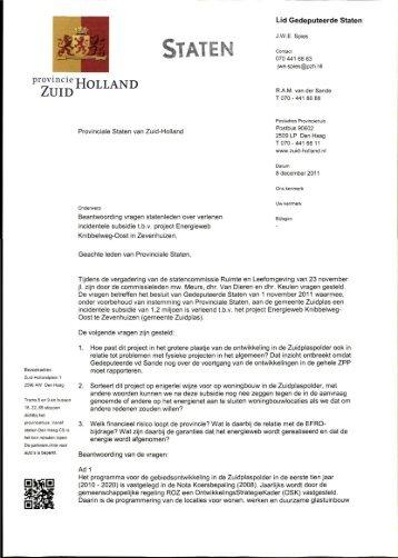Beantwoording vragen PS Energieweb Knibbelweg-Oost ... - Zuidplas