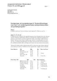 """Korrigeringar och kompletteringar till """"Strukturförändringar inom ..."""