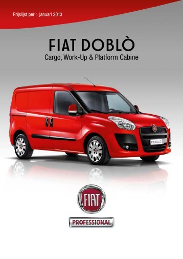 prijslijst fiat ducato fiat professional. Black Bedroom Furniture Sets. Home Design Ideas