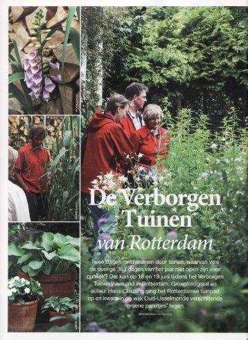 De verborgen tuinen van Rotterdam verborgen tuinen van rotterdam