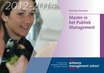 Master in het Publiek Management - Antwerp Management School