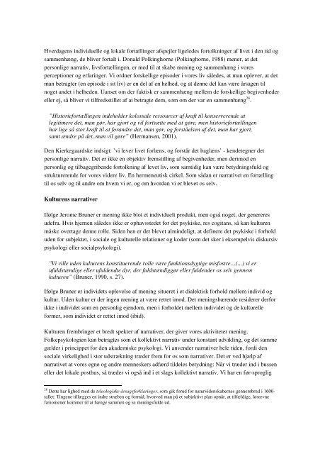 Psykologien mellem kultur og natur - Akademisk Opgavebank