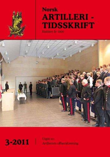 3-2011 ARTILLERI - TIDSSKRIFT - Artilleriets offisersforening