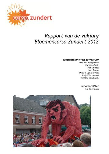 Juryrapport 2012 - Corso Zundert