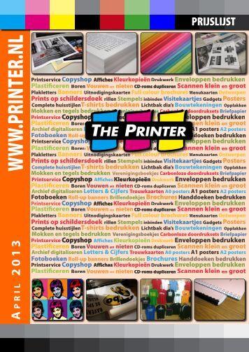 Prijslijst - The Printer