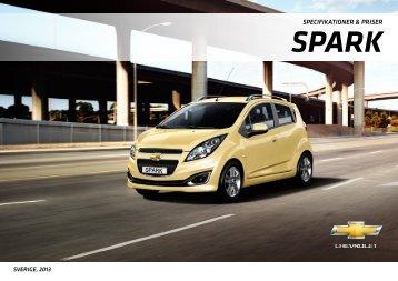 spark specifikationer & priser - Chevrolet