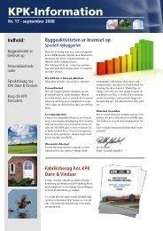 KPK-information nr. 17 - KPK Vinduer