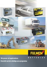 Volledig produktoverzicht Fulmen - Exide Technologies bv