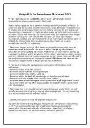 Kostpolitik for Børnehaven Skovhuset 2013