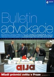 62.Bulletin advokacie - Česká advokátní komora