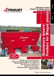 Stationary mixers Feeders for Biogas plants